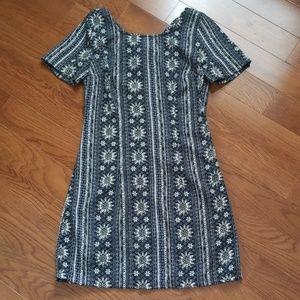 Girls Hollister Dress Black & Cream Size XS